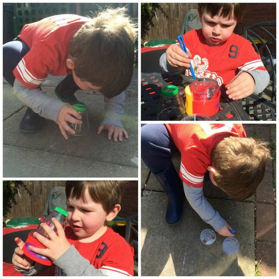 Hunting for minibeasts with Learning Resources bugwatch magnifier
