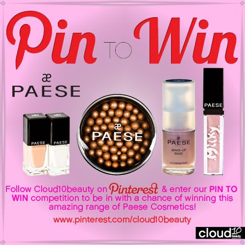 PIN TO WIN with Cloud10Beauty - Paese Cosmetics - French manicure set, Paese Bronzing Balls, Paese Illuminating Makeup Base & Paese Milky Lips (Colour603)!   Winner shall be announced 29th August 2012!
