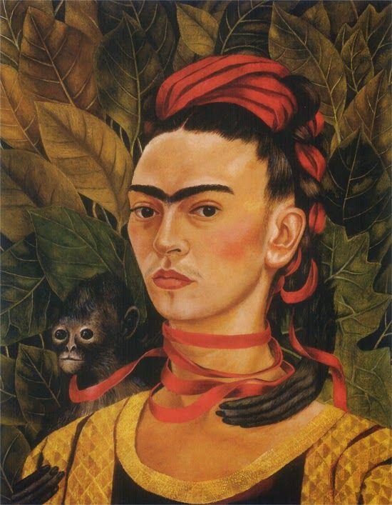 Gli animali come emblemi nell'arte di Frida Kahlo: autoritratti con scimmie. | Autoritratti, Frida kahlo, Auto ritratto