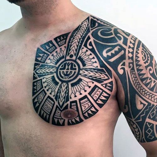 101 Best Chest Tattoos For Men Cool Ideas Designs 2019 Guide Tribal Chest Tattoo Designs Tribal Tattoos For Men Chest Tattoo Men Mens Shoulder Tattoo