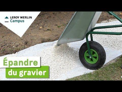 Comment épandre Du Gravier Leroy Merlin Youtube Allée