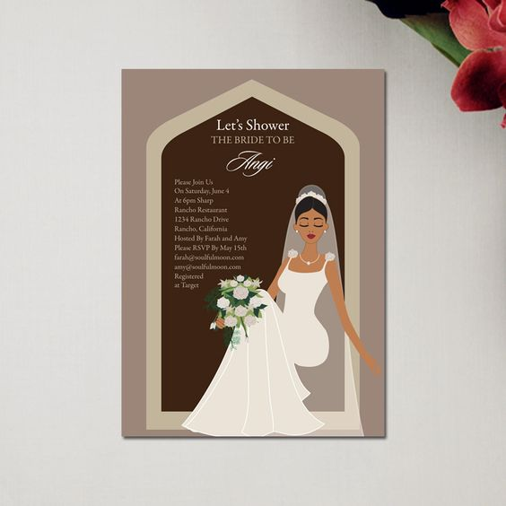 soulfulmoon african american bridal shower invitations