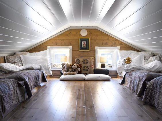 Herlig hems: et ønske om to senger på hver side resulterte i en ...
