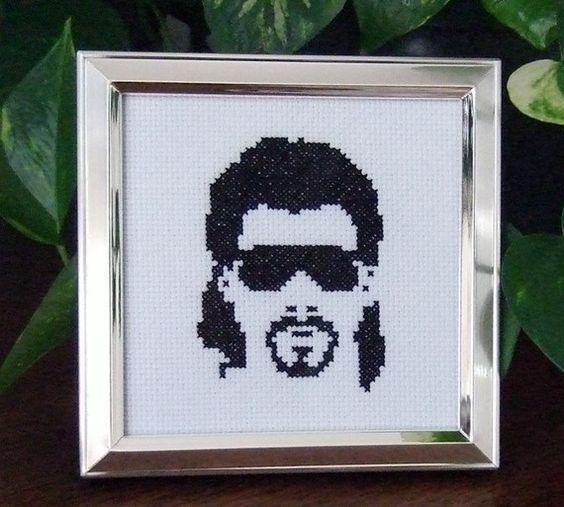 Kenny Powers cross-stitch pattern hahahahaha @Michelle Wilkins