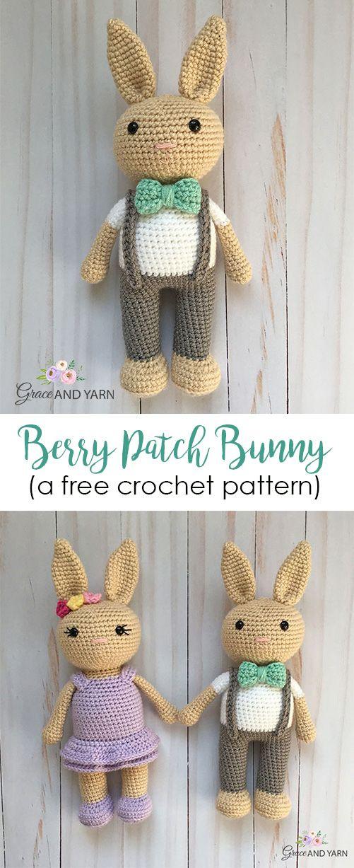 Velvet Bunny Amigurumi Free Crochet Pattern - Crochet For You | 1227x501