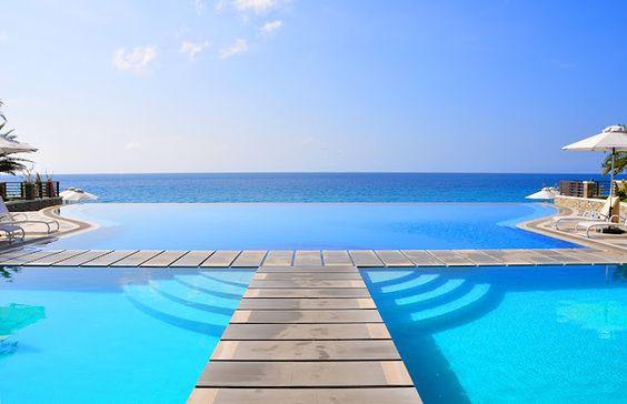 Infinity Pool at the Acuatico Beach Resort Philippines
