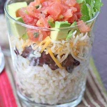 Burrito Cups  - real easy and can be done with or without meat!