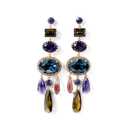 Ralph Lauren Swarovski Cabochon Earrings (€665) ❤ liked on Polyvore featuring jewelry, earrings, cabochon earrings, earring jewelry, american jewelry, chandelier earrings and ralph lauren jewelry