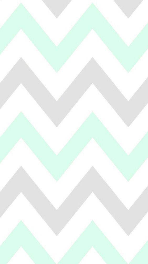 Mint chevron CocoPPa wallpaper
