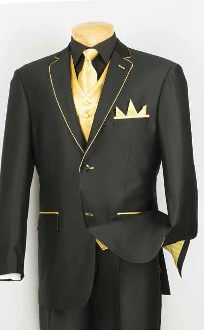 Black Suit With Gold Dress Yy