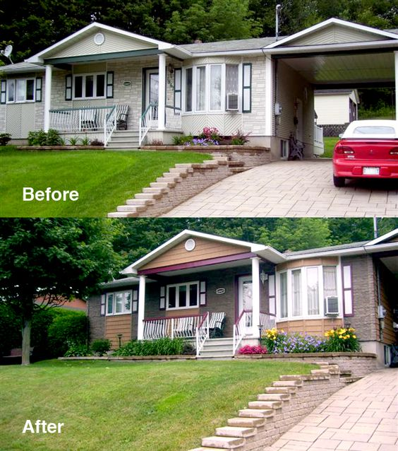 Before after home renovation add curb appeal with novik for Do it yourself home renovation