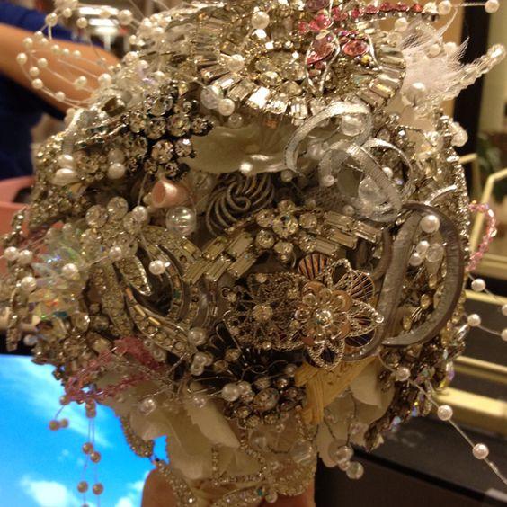 My friend's wedding bouquet of crystals ;)