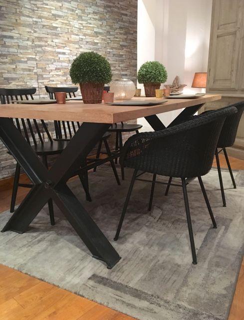 Table Et Chaise En Chene En 2020 Table Salle A Manger Salle A Manger En Chene Salle A Manger Bois