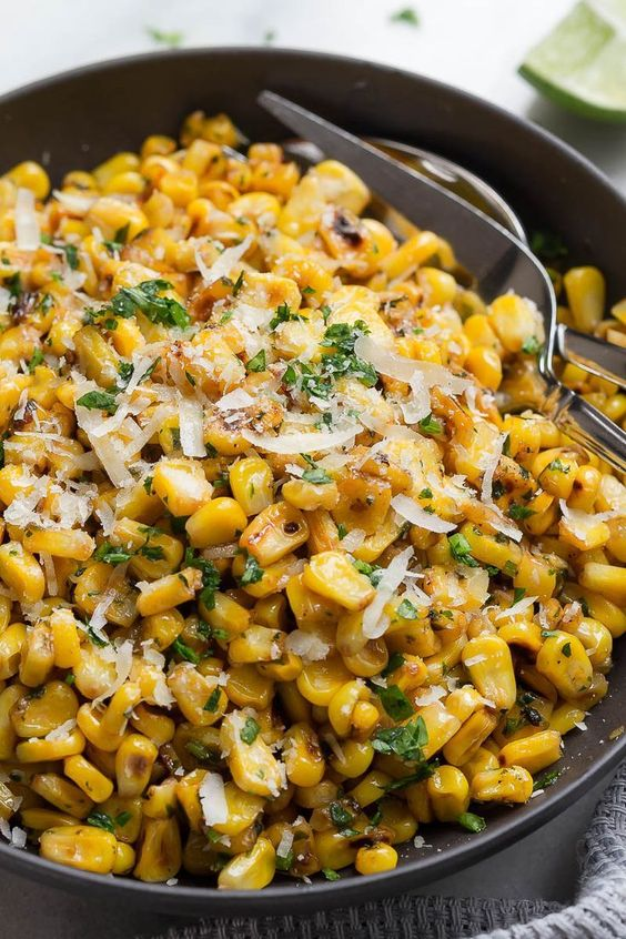 Grilled Corn with Garlic and Parmesan Cheese