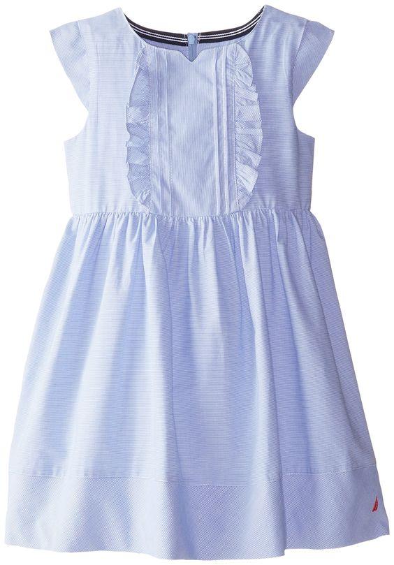 Amazon.com: Nautica Little Girls' Mini Pinstripe Dress with Cap Sleeves, EL Classic Blue, 4: Clothing