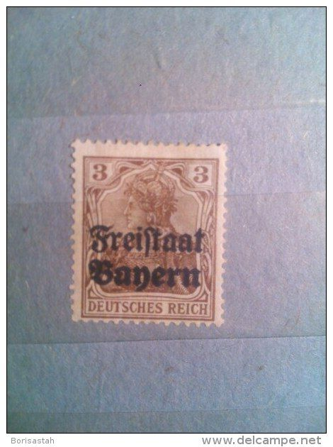 1921 at 5PF dark brown with overprint Freystaat Banern, 3 cents