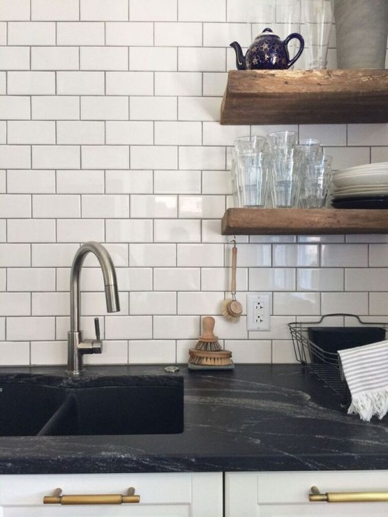 Open Shelving, Soapstone And Countertops On Pinterest