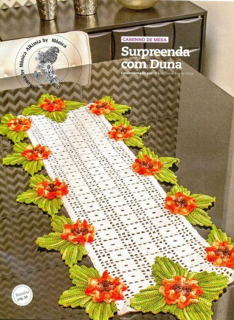 Schema Centrino rettangolare con fiori