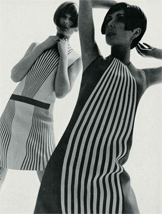 1960s. Op Art Fashion.