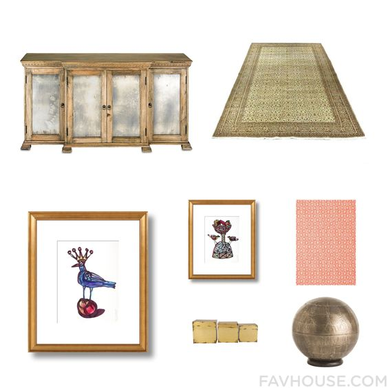 Interior Design List Including Currey & Company Sideboard Wool Rug Wall Art And Home Wall Decor From August 2015 #home #decor