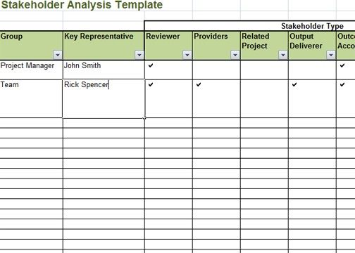 Stakeholder Analysis Template Excel HttpWwwCrunchtemplateCom