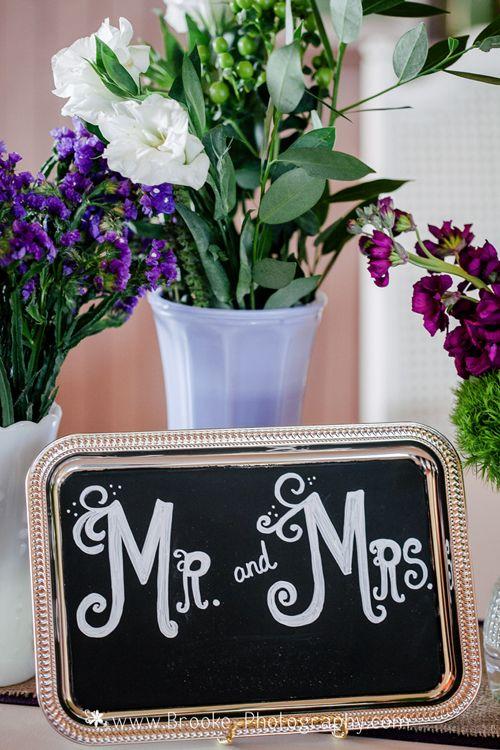 Kate & Company Weddings, Chandler, AZ   Ceremony & Reception Site: Ocotillo Golf Resort   Photography: Brooke Photography   Mr. & Mrs. Sign