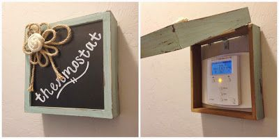 Use a cute box to cover up a thermostat.