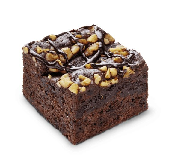 porcion de brownie