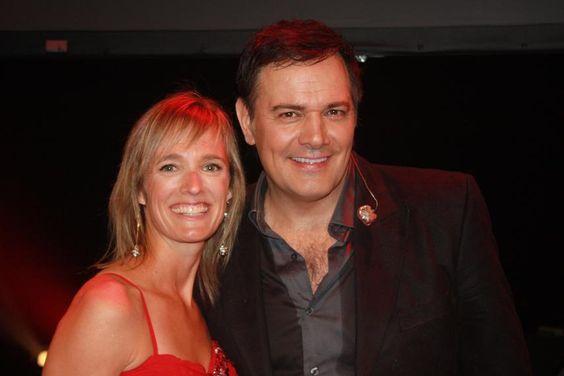 Avec Mario Pelchat au gala de la robe rouge