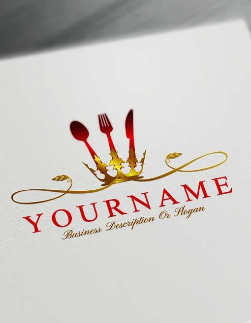 Luxurious Restaurant Logo Maker Online Build Catering Logo