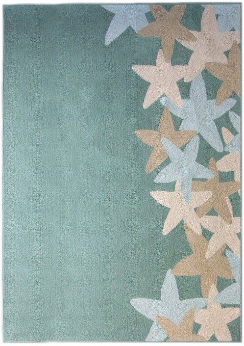 Starfish Polyester Area Rug 4ft0in x 6ft0in In Ocean - $119.00 FREE shipping