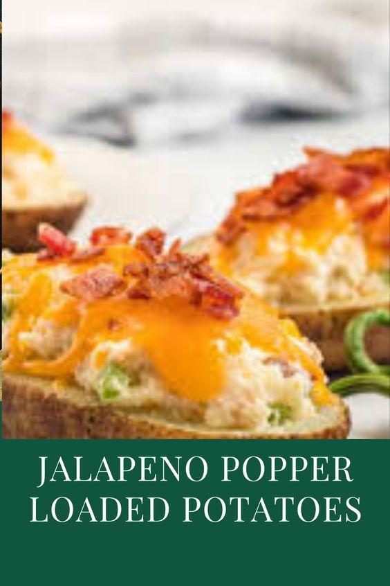 Jalapeno Popper Loaded Potatoes