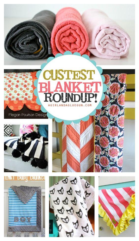 the cutest baby blanket roundup! lots of great diy tutorials!