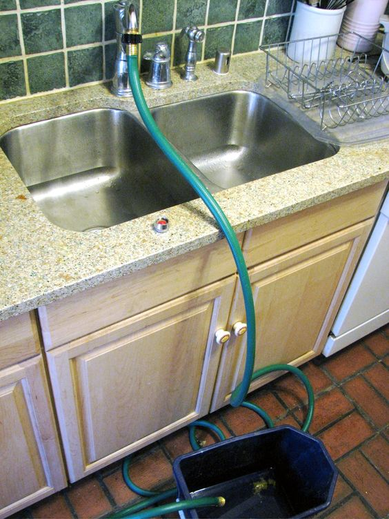 Portable Sink Outdoor Garden Hose