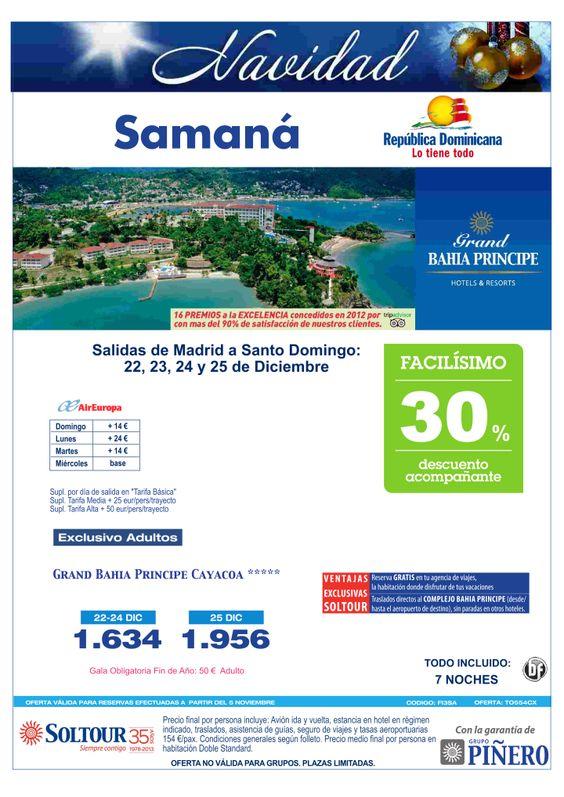 Samaná (Rep.Dominicana) 30% Grand Bahía Príncipe Cayacoa y Portillo, Especial Navidad salidas 22, 23, 24 y 25 DIC desde Madrid - http://zocotours.com/samana-rep-dominicana-30-grand-bahia-principe-cayacoa-y-portillo-especial-navidad-salidas-22-23-24-y-25-dic-desde-madrid/