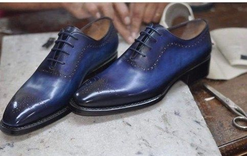 two tone oxford style leather shoes for men Handmade mens leather shoes