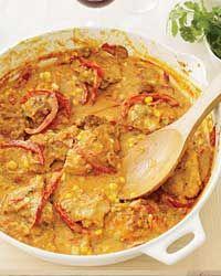 Curry-and-Yogurt-Braised Chicken Thighs