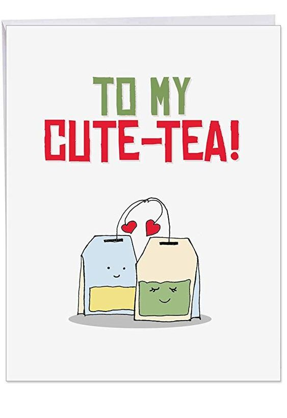 J5659ivdg Jumbo Valentine S Day Greeting Card Yummy Puns With Envelope Giant Size 8 5 X 11 Click Image To Check It Out Funny Doodles Puns Cute Jokes