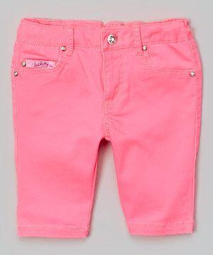 Another great find on #zulily! Pink Bermuda Shorts - Toddler & Girls by Lipstik Girls #zulilyfinds