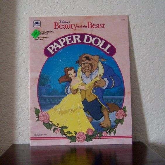 Paper Doll Book, Beauty and the Beast,  Uncut, 1991 on Etsy, $10.00