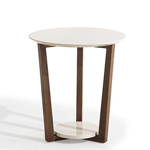 D L Wood Waterproof Side Table Round End Table Nordic Modern
