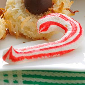 Meringue Candy Canes - I Use truvia in place of sugar.