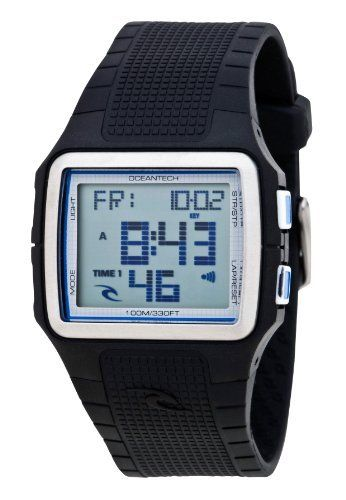 Rip Curl Men's A2385-BLK Drift Black Polyurethane Watch Rip Curl. $54.72. Stainless steel bezel ring. Case diameter: 39 mm. Polyurethane strap repels water, withstands dramatic temperature changes and is highly tear resistant. Dual time, light, multi-function countdown timer, stop watch with lap and lap recall, 4 daily alarms, and date functions. Water-resistant to 330 feet (100 M). Save 39%!