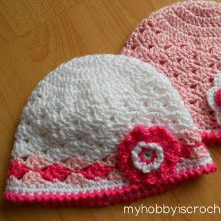 MY FREE PATTERNS-spring lacy hat for baby girls crochet ...