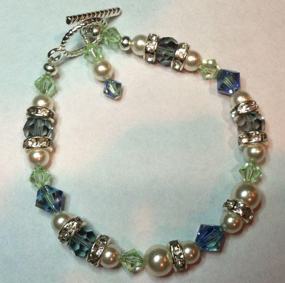 Provence Lavender Blend Pearl Bracelet  Spring's by Seasidesorelle, $30.00 on Etsy