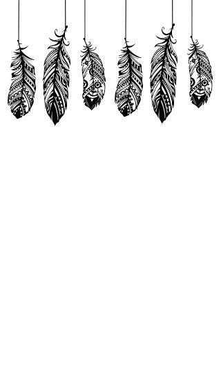 Piume con fantasie su sfondo bianco top pinterest for Sfondi bianco e nero tumblr