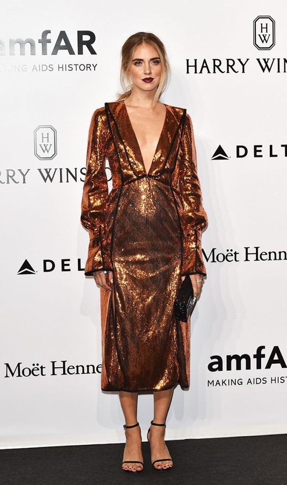 WHO: Chiara Ferragni WEAR: Marco de Vincenzo S/S 17 dress.