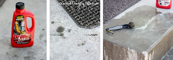 Drano Saved My Marriage!  {Or How To Clean Concrete Stains}