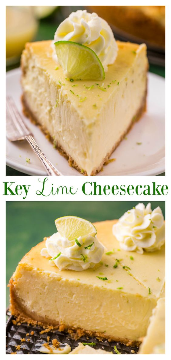 Key Lime Cheesecake - Baker by Nature