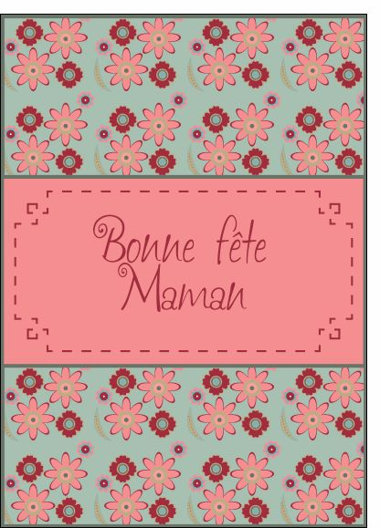 Carte Bonne f�te maman en broderie pour envoyer par La Poste, sur Merci-Facteur !